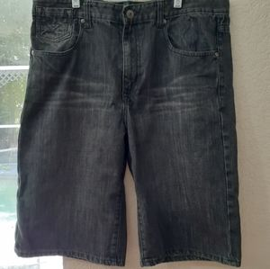 Ecko Unlimited charcoal denim shorts men's size 36